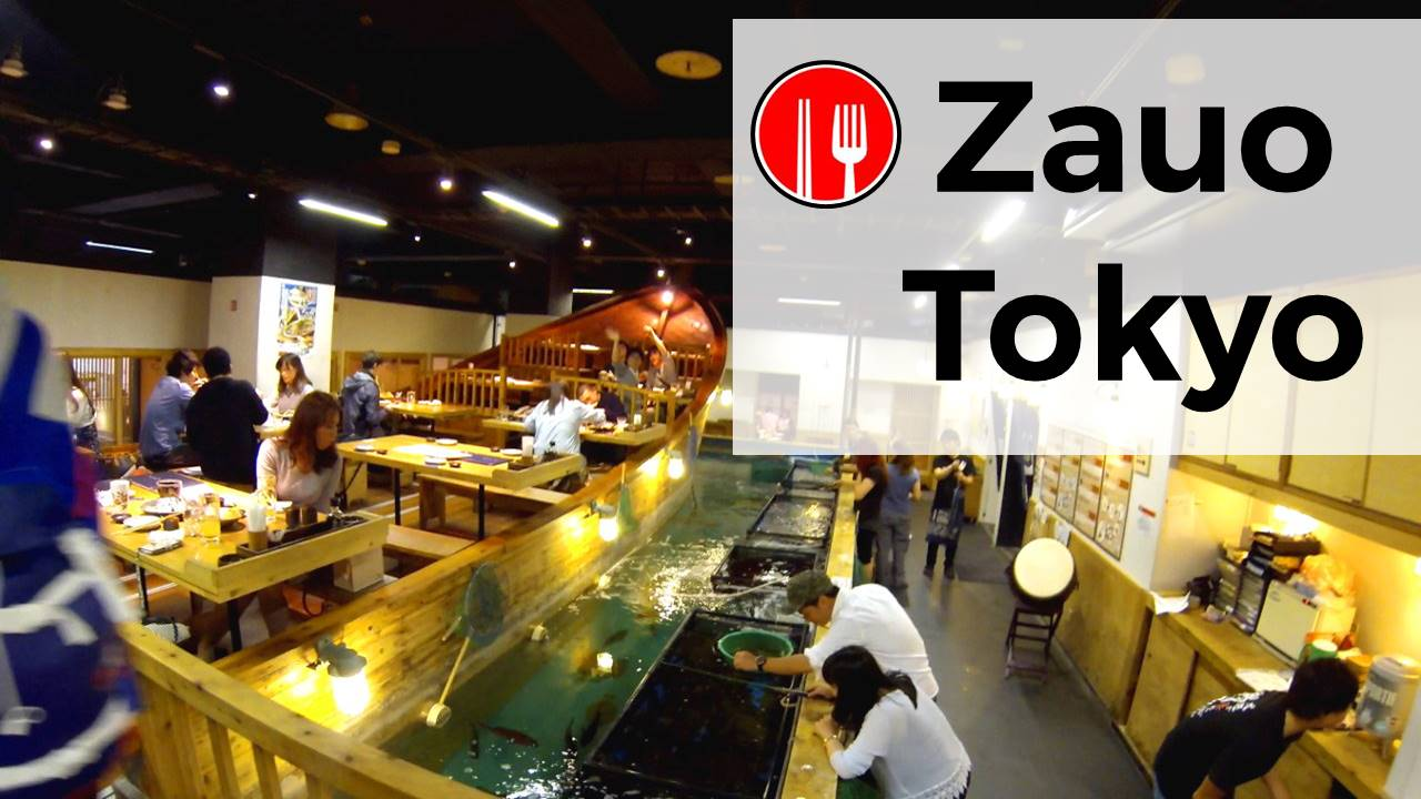 Zauo restaurant fishing your meal in tokyo fait au japon for Zauo fishing restaurant